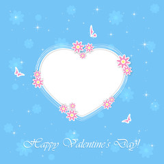 Blue Valentines background with heart