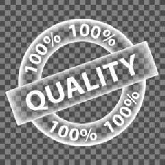 """100% QUALITY"" Marketing Stamp (assured guarantee top premium)"