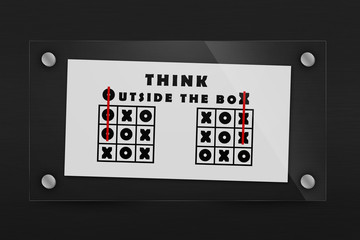 Tic tac toe and words think outside the box