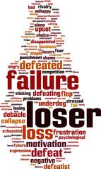 Loser word cloud concept. Vector illustration