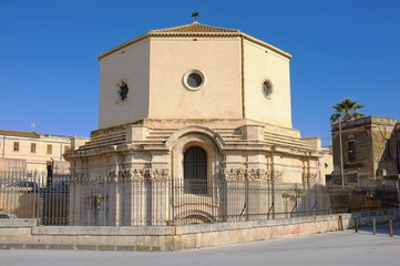 Saint Lucy's burial place in Siracusa, Sicily