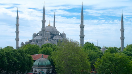Sultan Ahmed Mosque time-lapse video. Istanbul, Turkey.