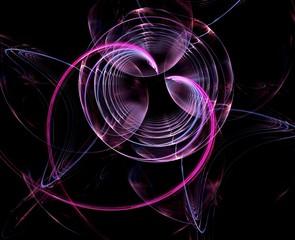 Creative Vanentine's day heart balloon abstract fractal