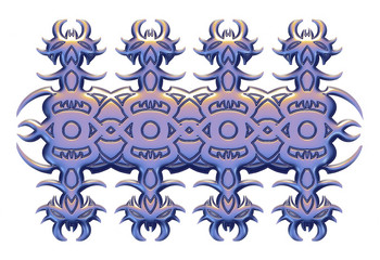 3D Graphic ornament for doors and windows.