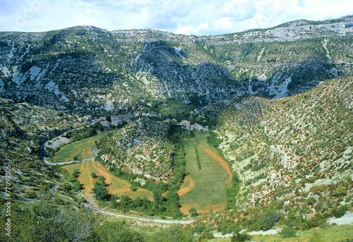 Fotobehang Canyon Cirque de Navacelles, Gard