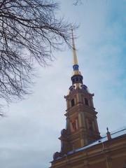 Колокольня петропавловского собора. Санкт-Петербург