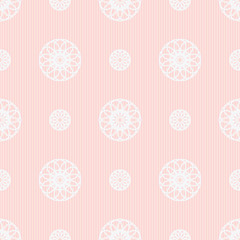 Seamless geometric background in shades of pink