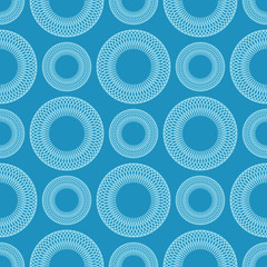 Seamless geometric vector background of circles spirographic