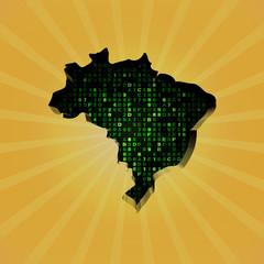 Brazil sunburst map with hex code illustration