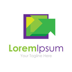 Inspire the progress law green arrows business element icon logo
