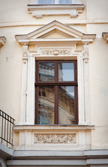 beautiful architectural window Baroque in Lviv