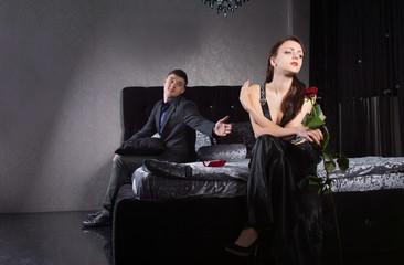 Boyfriend Asking Forgiveness to Mad Girlfriend
