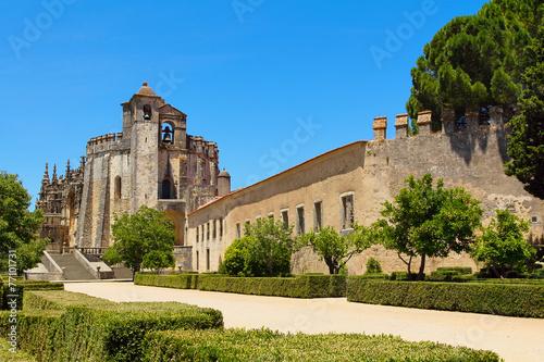 Aluminium Vestingwerk Templar knights castle of Tomar in Portugal