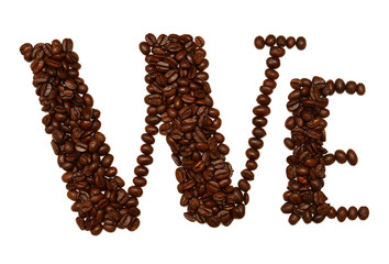 The word we posted from coffee beans