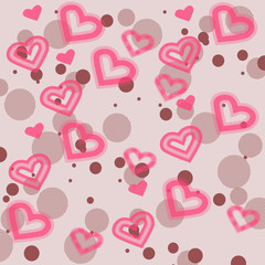 Pink Background With Hearts - Valentines Day - Celebrations