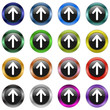 Button Pfeil metallic  #150128-06