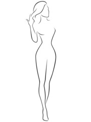 Abstract female contour