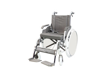 Wheelchair isolated under the white background
