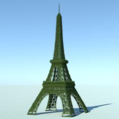 Torre Eiffel 3D rivestita di erba