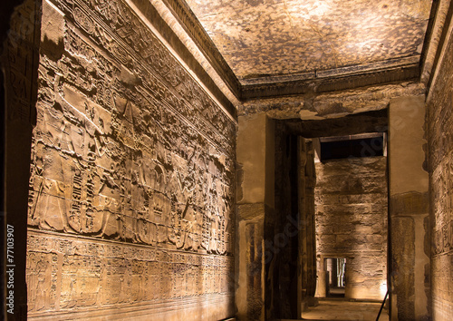 Papiers peints Egypte Ancient Egyptian wall carvings in Luxor Temple