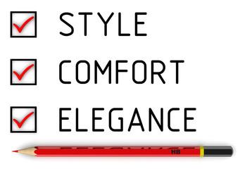 Style, comfort, elegance