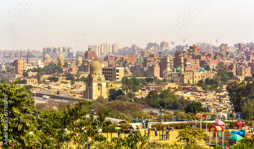 Poster View of Cairo from Al-Azhar Park - Egypt