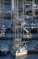 Italy; 27/01/2015, luxury yachts in the marina - EDITORIAL