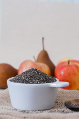 Chia y fruta