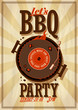 Barbecue party poster. - 77106723