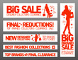 Fashion banners set for sale and new collections.