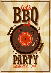 Barbecue party poster.