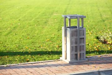 Recycle bin in park