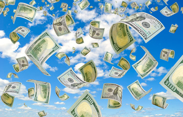 Dollars in the sky.