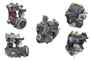 car engines isolated on white background