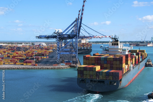 Plakat Container Port Ship