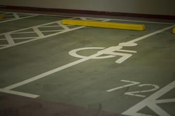 Wheelchair mark of parking
