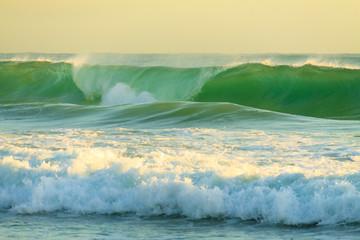 Rough water of Pacific Ocean