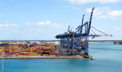 Leinwandbild Motiv Container Port
