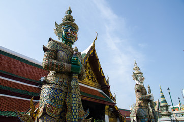 Guardiano a Wat Phra Kaew