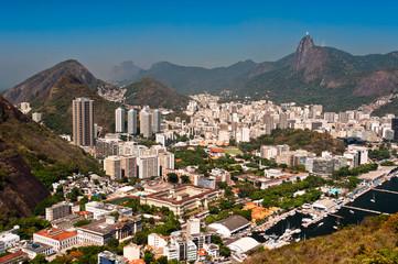 Skyline of Rio de Janeiro with Corcovado Mountain