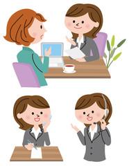 女性 商談 ビジネス