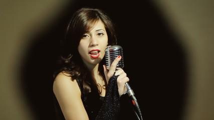 Music woman singer frame la la