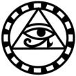 Egyptian eye of horus icon vector