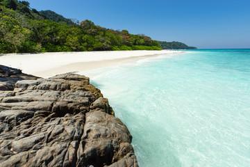 Tropical white sand beach paradise of Koh Tachai, Thailand