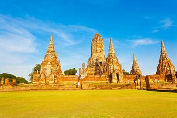 temple de wat chai watthanaram, thaïlande