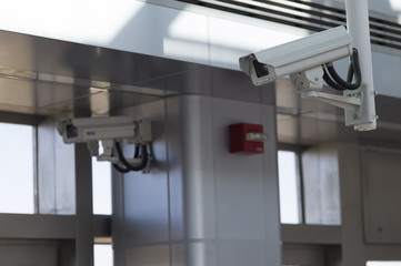 Security camera that was installed in the building