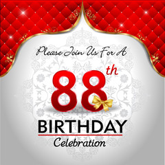 88th happy birthday celebration royal red card