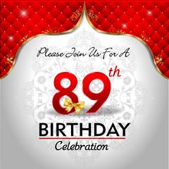 89th  birthday celebration royal red card