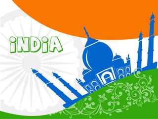 India tourism, india travel with taj mahal agra background