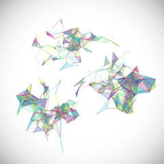 Collection of colorful abstract geometric backgrounds. Vector